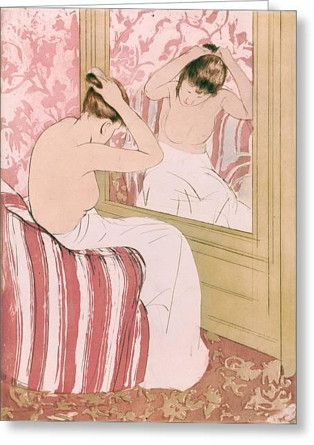 Cassatt Coiffure, 1891 Greeting Card by Granger
