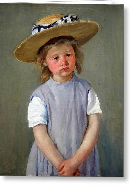 Cassatt Photographs Greeting Cards - Cassatts Child In A Straw Hat Greeting Card by Cora Wandel