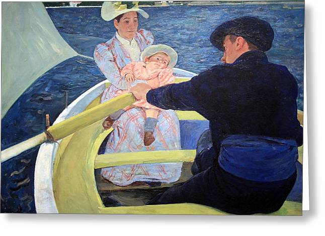 Cassatt Photographs Greeting Cards - Cassatts The Boating Party Greeting Card by Cora Wandel