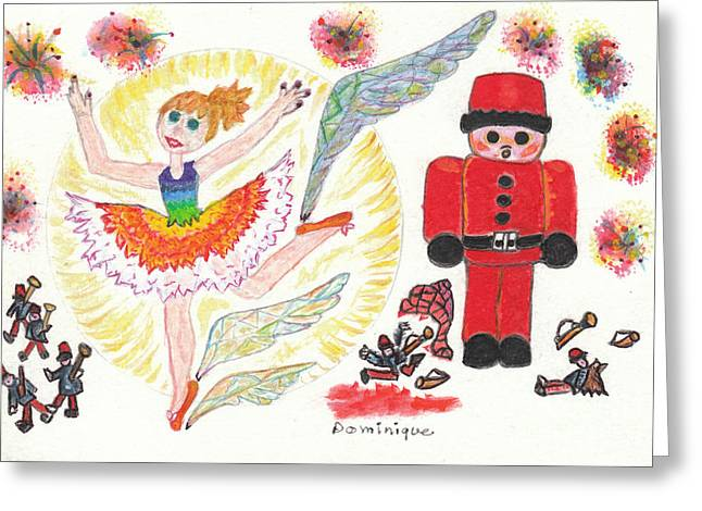 Ballet Dancers Greeting Cards - Casse-Noisette / The Nutcracker Greeting Card by Dominique Fortier