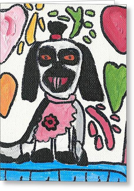 Brandon Drucker Greeting Cards - Cassidys Puppy Greeting Card by Brandon Drucker