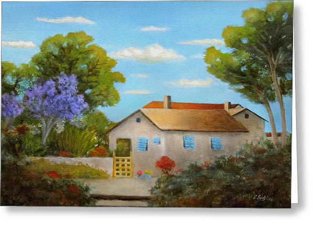 Cassie's Cottage Greeting Card by Gordon Beck