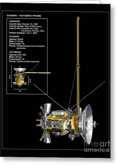 21st Greeting Cards - Cassini-huygens Probe, Artwork Greeting Card by Carlos Clarivan