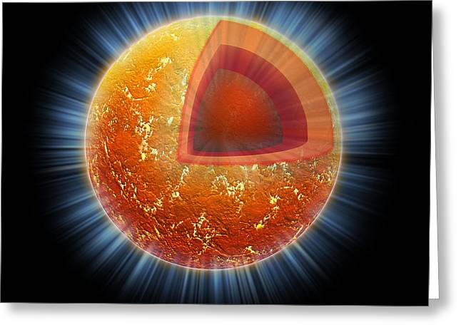 Neutron Greeting Cards - Cassiopeia A Neutron Star Core Greeting Card by Science Source