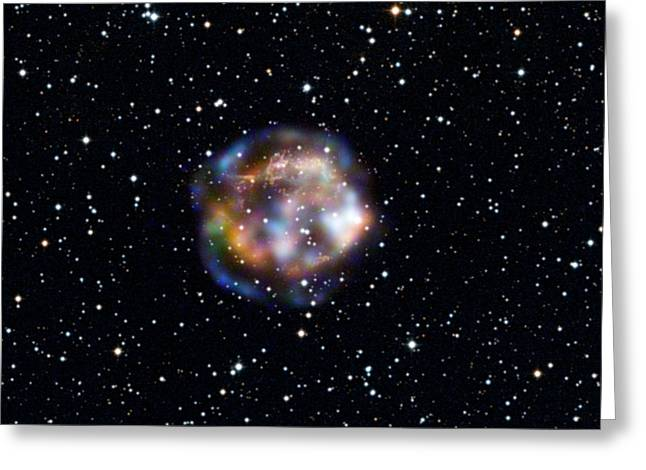 Spectroscopic Greeting Cards - Cassiopeia A, Nustar X-ray Image Greeting Card by Nasa