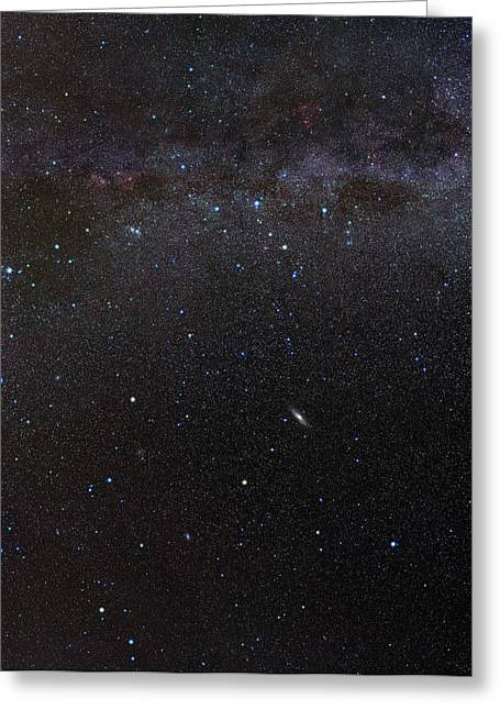Cassiopeia Constellation And Andromeda Greeting Card by Eckhard Slawik