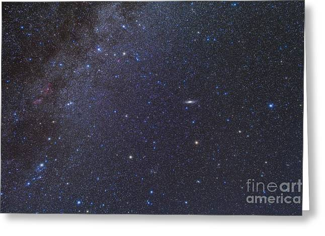 Double Cluster Greeting Cards - Cassiopeia, Perseus And Andromeda Area Greeting Card by Alan Dyer