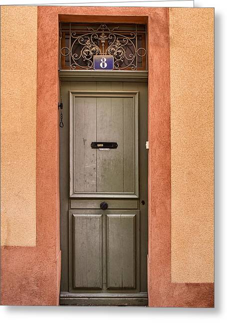 France Doors Greeting Cards - Cassis Door Number 8 Greeting Card by Nomad Art And  Design