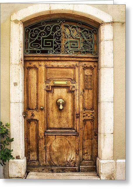 South Of France Greeting Cards - Cassis French Door Greeting Card by Nomad Art And  Design