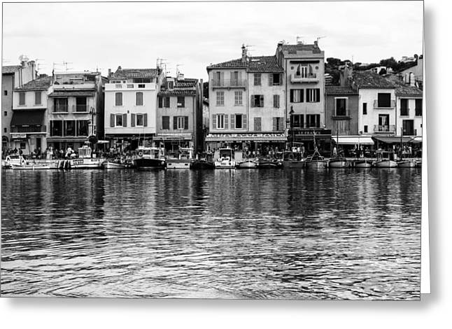 South Of France Greeting Cards - Cassis - French Seaside Town Greeting Card by Nomad Art And  Design