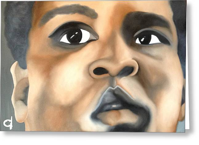 Cassius Clay Greeting Card by Chelsea VanHook