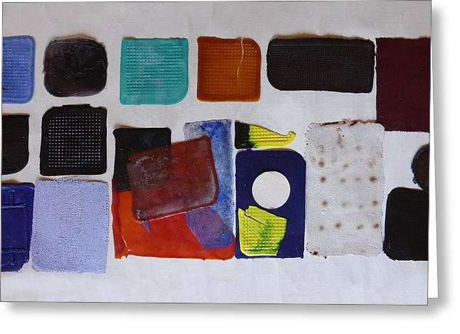 Abstract Reliefs Greeting Cards - Cast abstraction 1 Greeting Card by Mark Fearn
