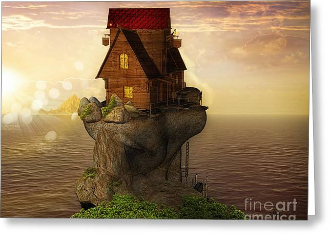 3d Render Greeting Cards - Cast Away Greeting Card by Mo T