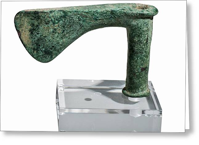Cast Bronze Axe Greeting Card by Photostock-israel