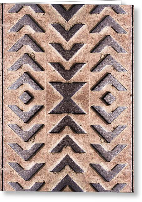 Modified Greeting Cards - Cast Iron Chevron Pattern Greeting Card by Hakon Soreide