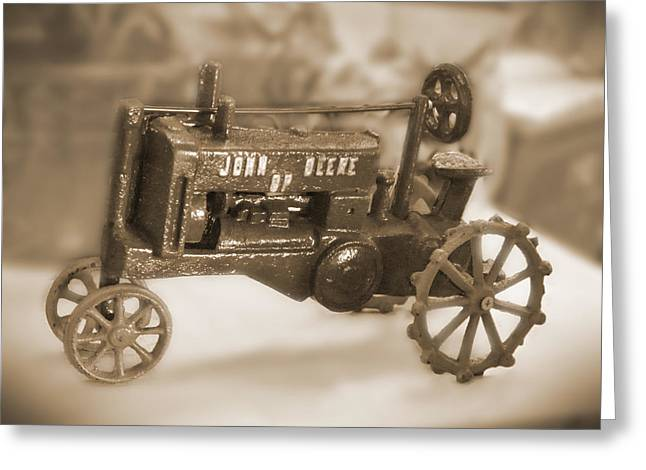 Cast Iron Toys Greeting Card by Mike McGlothlen