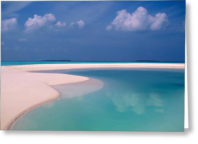 Azur Greeting Cards - Castaway Island Maldives 51 Greeting Card by Per Lidvall