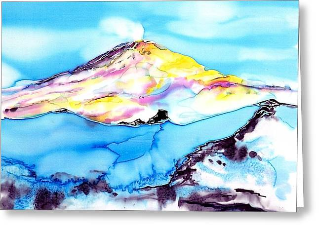 White Tapestries - Textiles Greeting Cards - Caste Rock Antarctica Greeting Card by Carolyn Doe