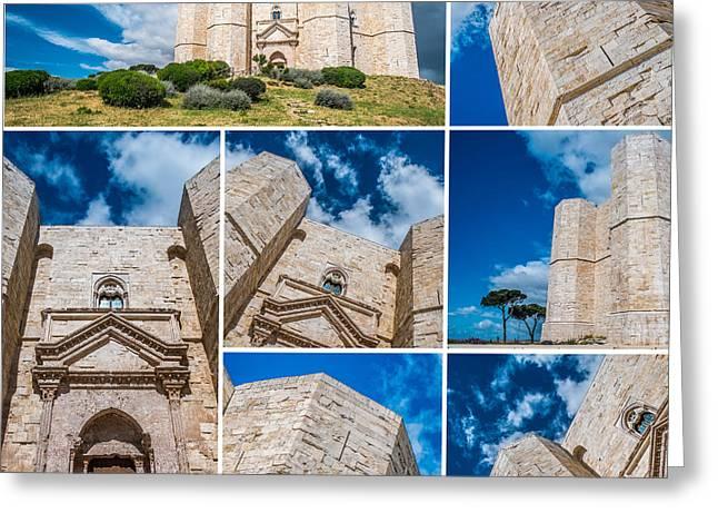 Castel Del Monte Collage Greeting Card by Sabino Parente