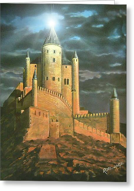 Vale Drawings Greeting Cards - Castel Greeting Card by Denis Rufiange