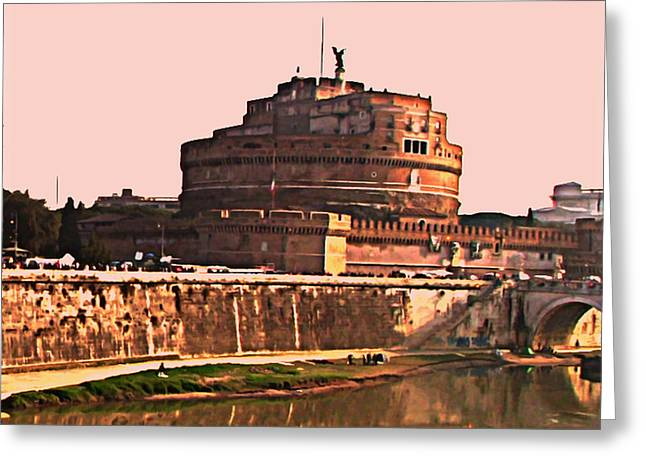 Castel Sant 'Angelo Greeting Card by BRIAN REAVES