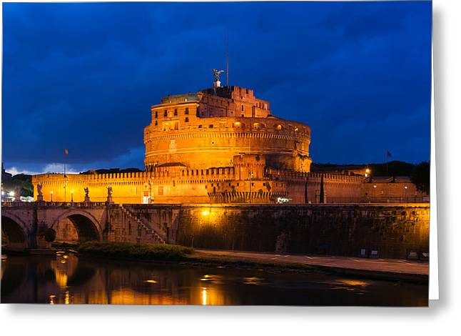 Castel Greeting Cards - Castel Sant Angelo - Rome Greeting Card by Mountain Dreams