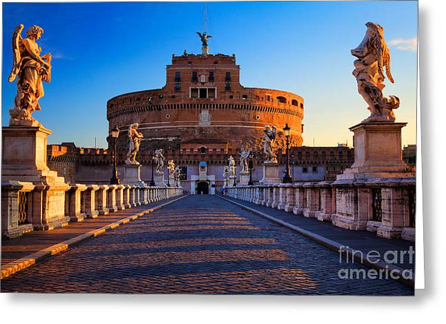 Castel Greeting Cards - Castel SantAngelo Greeting Card by Inge Johnsson