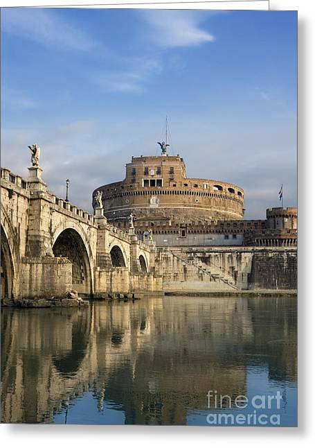 Mausoleum Greeting Cards - Castel SantAngelo Greeting Card by Rod McLean