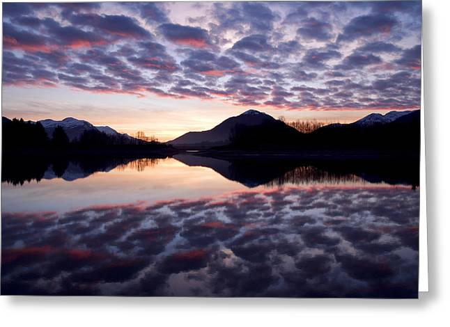 Colorful Cloud Formations Greeting Cards - Castellanus Clouds Form @ Sunrise Over Greeting Card by John Hyde