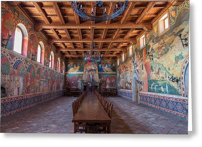 Castelle Di Amorosa Dining Hall Greeting Card by Scott Campbell