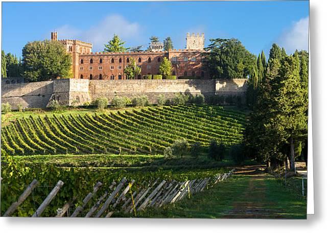 Chianti Greeting Cards - Castello di Brolio - Chianti Italy Greeting Card by Carl Amoth