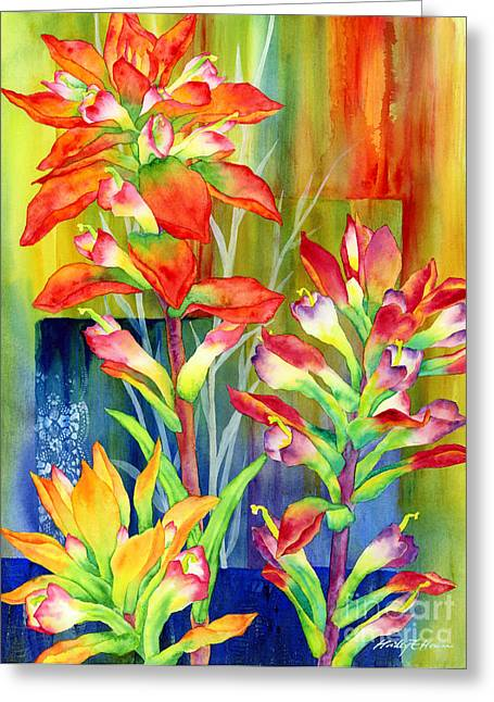 Texas Wild Flowers Greeting Cards - Castilleja Indivisa Greeting Card by Hailey E Herrera