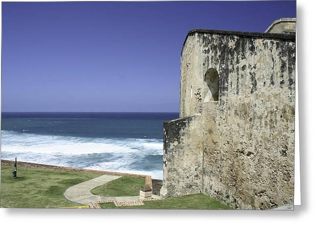 Castillo De San Cristobal Puerto Rico Greeting Card by Erin Cadigan