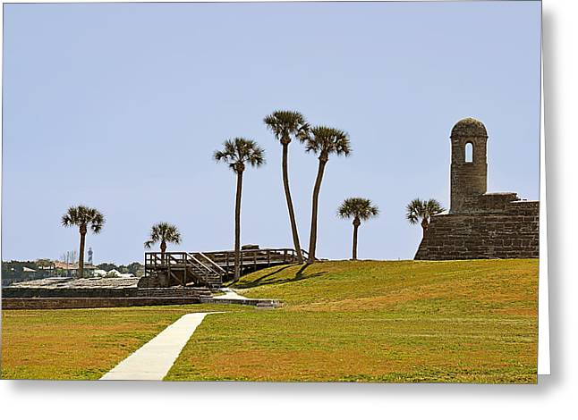 Historic Landmarks Greeting Cards - Castillo de San Marcos St Augustine FL Greeting Card by Christine Till