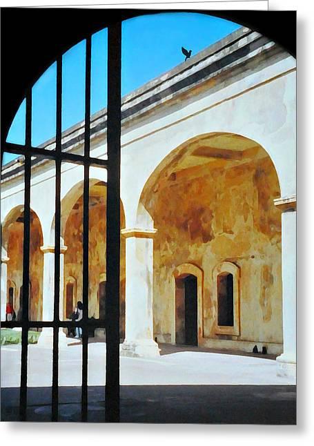 Castillo San Cristobal Greeting Card by Diana Angstadt