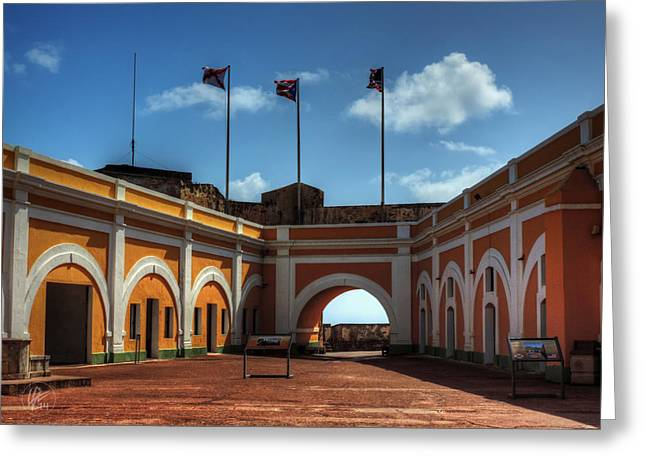 Castillo San Felipe Greeting Cards - Castillo San Felipe del Morro 004 Greeting Card by Lance Vaughn