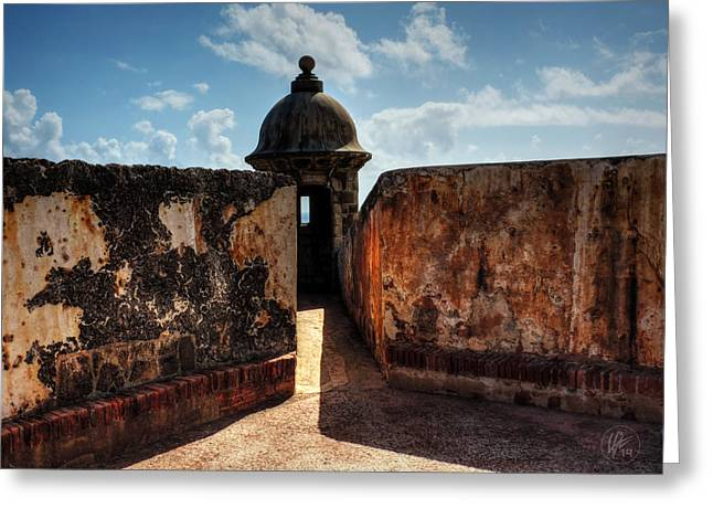 Castillo San Felipe Greeting Cards - Castillo San Felipe del Morro 005 Greeting Card by Lance Vaughn