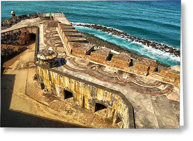 Castillo San Felipe Greeting Cards - Castillo San Felipe del Morro 2 Greeting Card by Mitch Cat