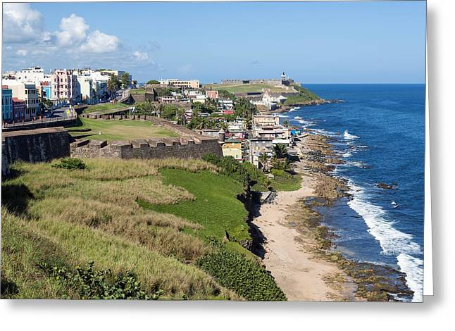 Morro Castle Greeting Cards - Castillo San Felipe del Morro. Greeting Card by Fernando Barozza