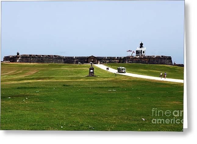 Castillo San Felipe del Morro Greeting Card by John Rizzuto