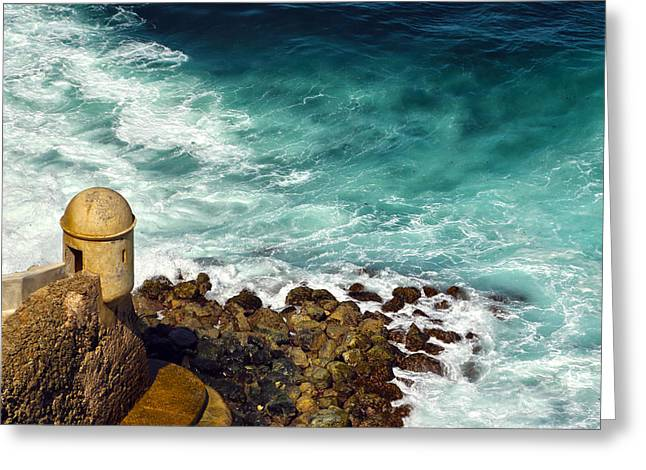 Castillo San Felipe Greeting Cards - Castillo San Felipe del Morro  Greeting Card by Mitch Cat