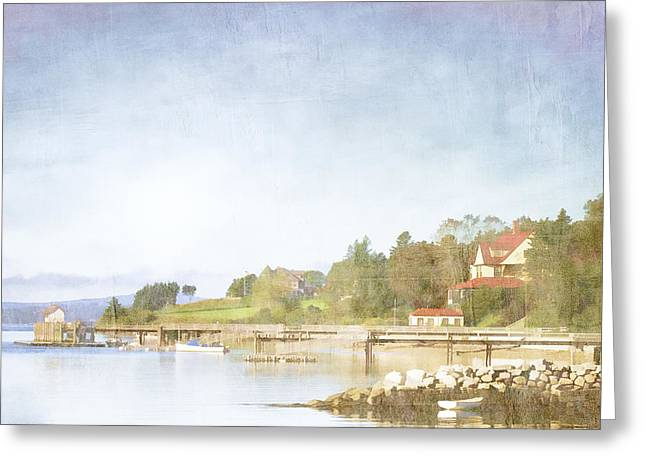 New England Ocean Digital Art Greeting Cards - Castine Harbor Maine Greeting Card by Carol Leigh