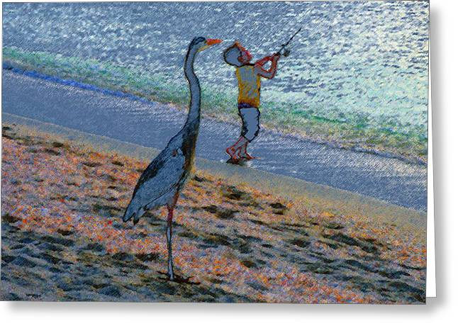 Cost Digital Greeting Cards - Casting in Captiva Greeting Card by David Lee Thompson