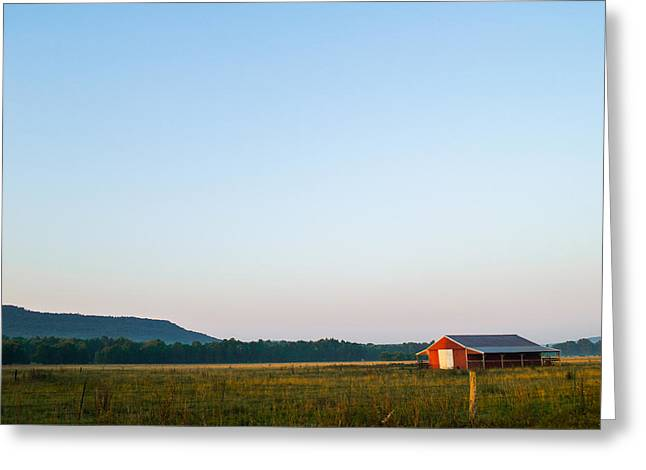 Hay Bales Greeting Cards - Casting Shadows Greeting Card by Shelby  Young