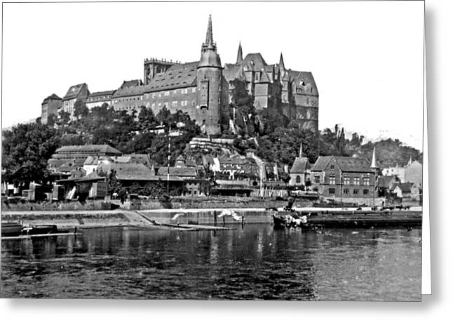 Deutschland Greeting Cards - Castle Albrechtsberg Germany 1903 Vintage Photograph Greeting Card by A Gurmankin