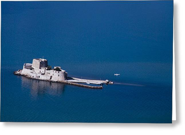 Castle Bourtzi Greeting Card by David Waldo
