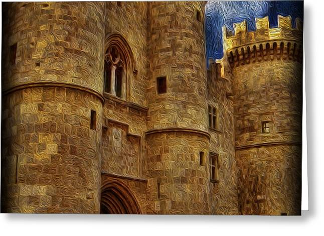 Castle by Moonlight Greeting Card by Lee Dos Santos