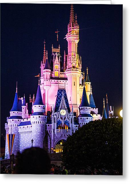 Espn Greeting Cards - Castle By Night Greeting Card by Andrew Delos Santos