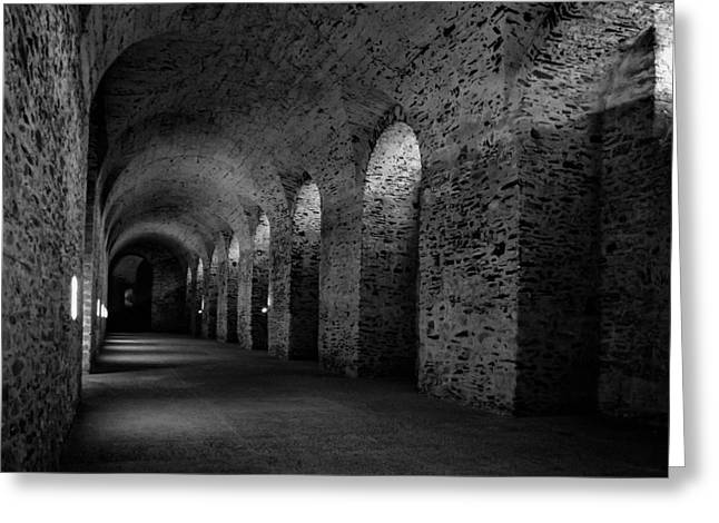 Erf Greeting Cards - Castle Cellar Greeting Card by Karl Greeson