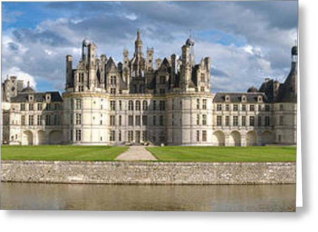 Chateau Greeting Cards - Castle, Chateau De Chambord Greeting Card by Panoramic Images